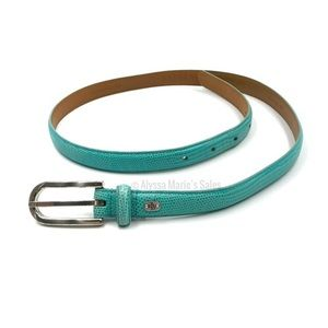 Lauren Ralph Lauren Teal Italian Leather Belt